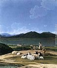 Wilhelm von Kobell View of Lake Tegern painting