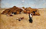 Willard Leroy Metcalf Arab encampment, Biskra painting