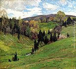 Willard Leroy Metcalf Flying Shadows painting