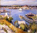 Willard Leroy Metcalf Gloucester Harbor painting