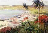 Willard Leroy Metcalf Havana Harbor painting