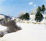 Willard Leroy Metcalf Hush of Winter painting