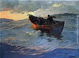 Willard Leroy Metcalf On the Suffolk Coast painting