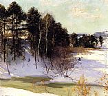 Willard Leroy Metcalf Thawing Brook painting