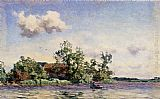 Willem Bastiaan Tholen A Farm On The Waterfront, The Kaag painting