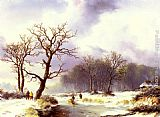 Willem Bodemann A Winter Landscape painting