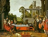Willem Buytewech Banquet in the Open Air painting