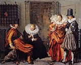 Willem Buytewech Elegant Courting Couples painting