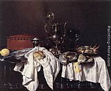 Willem Claesz Heda Still-Life with Pie, Silver Ewer and Crab painting