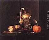 Willem Kalf Still-Life with Silver Bowl, Glasses, and Fruit painting