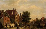 Willem Koekkoek Along The Canal painting