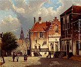 Willem Koekkoek Town Square painting