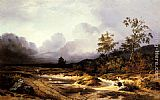 Willem Roelofs An Approaching Storm painting