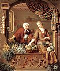 Willem Van Mieris The Greengrocer painting