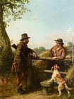William Bromley III Country Conversation painting