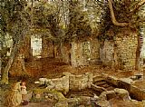 William Davis Marys Well near Saint Asaph painting