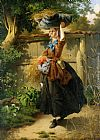 William Edward Millner Returning from the fields painting