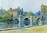 William Fraser Garden The Bridge at St. Ives painting