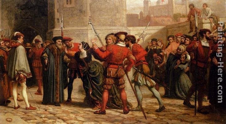 William Frederick Yeames The Meeting Of Sir Thomas More With His Daughter After His Sentence Of Death