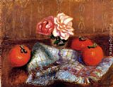 William Glackens Roses And Persimmons painting