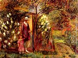 William Glackens Two In A Garden painting
