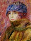 William Glackens Woman In Blue Hat painting