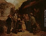 William Hemsley Gathering Round painting