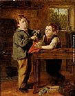 William Hemsley The Young Barber painting