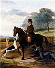 William Henry Knight Mr. Gilpin On His Favorite Hack With Greyhounds painting