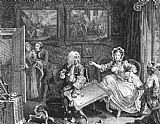 William Hogarth A Harlot's Progress, plate 2 of 6 painting