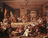William Hogarth An Election Entertainment painting