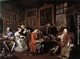 William Hogarth Marriage à la Mode 1. The Marriage Settlement painting