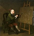 William Hogarth Self Portrait at the Easel painting