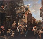 William Hogarth Soliciting Votes painting