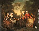 William Hogarth The Fountaine Family painting