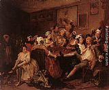 William Hogarth The Orgy painting