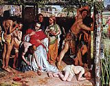 William Holman Hunt A Converted British Family Sheltering a Christian Missionary from the Persecution of the Druids painting