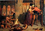 William Holman Hunt Eve of Saint Agnes; The Flight of Madeleine and Porphyro during the Drunkenness attending the Revelry painting
