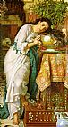 William Holman Hunt Isabella and the Pot of Basil painting