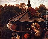 William Holman Hunt The Festival Of St. Swithin Or The Devecote painting