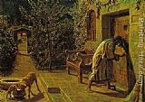 William Holman Hunt The Importunate Neighbour painting