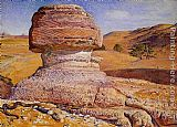 William Holman Hunt The Sphinx, Gizeh, Looking towards the Pyramids of Sakhara painting