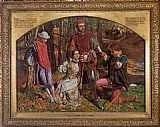 William Holman Hunt Valentine Rescuing Sylvia from Proteus painting