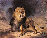 William Huggins A Lion painting