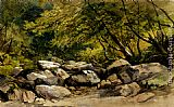 William James Muller A Rocky Stream, Lyndale, Devon painting