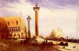 William James Muller Piazetta And The Doge's Palace, Venice painting