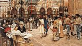 William Logsdail Piazza of St Mark's, Venice painting