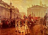 William Logsdail Sir James Whitehead's Procession, 1888 painting