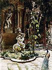 William Logsdail The Garden Of The Palazzo Malipiero painting