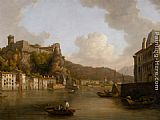 William Marlow View of the Chateau de Pierre Encise on the Rhone Lyon painting